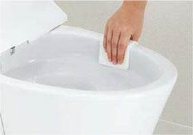 アメージュZ シャワートイレ フチレス形状